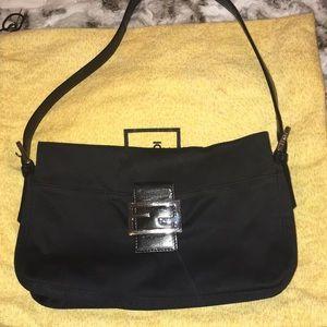 PRADA BLACK NEOPRENE SHOULDER BAG